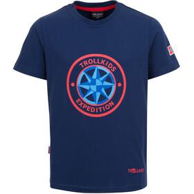 TROLLKIDS Windrose T-Shirt Enfant, bleu